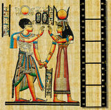 Egyptian papyrus. With film strip Royalty Free Stock Image