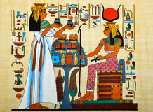 Egyptian Papyrus. Papyrus with elements of egyptian ancient history Royalty Free Stock Image