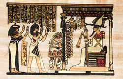 Egyptian papyrus Royalty Free Stock Photos