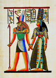 Egyptian Papyrus_2. Papyrus with elements of egyptian ancient history royalty free stock images