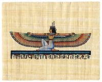Egyptian papyrus. Superfine scan of Egyptian papyrus Stock Photography