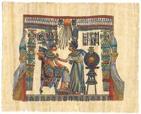 Egyptian papyrus. Superfine scan of Egyptian papyrus Royalty Free Stock Images