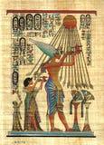 Egyptian papyrus. Pharaoh, original art Egyptian papyrus Royalty Free Stock Photography
