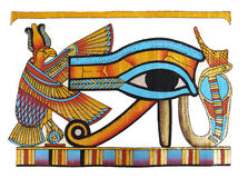 Egyptian papyrus. Egyptian drawing in traditional style Stock Images