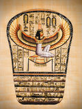 Egyptian papyrus. Showing Isis, called as Mather of gods. Egypt series Stock Photography