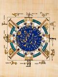 Egyptian papyrus. The old Egyptian calendar. Egypt series stock photos