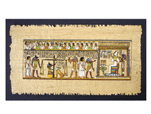 Egyptian  papyrus. Background of the old Egyptian papyrus Stock Images