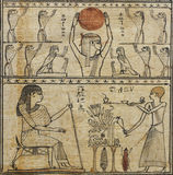 Egyptian papyrus, the Book of the Dead. stock image