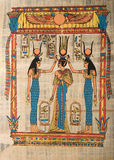 Egyptian papyrus depicting ceremony Royalty Free Stock Photo