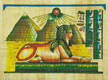 Egyptian papyrus painting Stock Photography