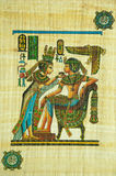 Egyptian papyrus painting Royalty Free Stock Image