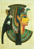 Egyptian papyrus painting Stock Photo