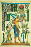 Egyptian papyrus painting Royalty Free Stock Photography