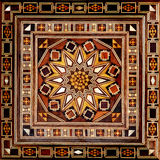 Egyptian Pattern. With wood slices stock photography