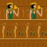 Egyptian on the pattern Stock Image