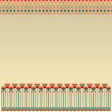 Egyptian pattern with round elements Royalty Free Stock Photo