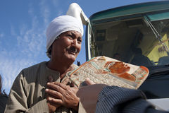Egyptian peddler Stock Images