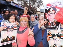 Egyptian people loves general Sisi Royalty Free Stock Photography