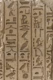 Egyptian Pharaoh Alphabet. Engraved on Stone Wall royalty free stock images