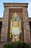 Egyptian Pharaoh made with Lego blocks stock photo