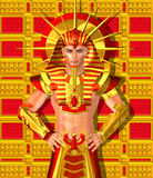 Egyptian Pharaoh Ramses. A modern digital art version of the ancient Egyptian king. Royalty Free Stock Images
