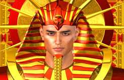 Egyptian Pharaoh Ramses. A modern digital art version. Royalty Free Stock Photography
