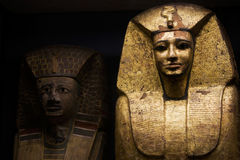 Egyptian Pharaohs sarcophagus royalty free stock photography