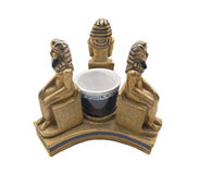 Free Egyptian Pharaohs Statuette Souvenir Isolated On White Background. Royalty Free Stock Photography - 51301767