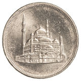 10 egyptian piasters coin Stock Photography