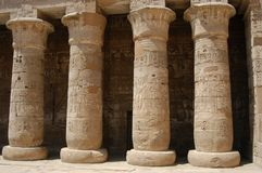 Egyptian pillars Stock Photo
