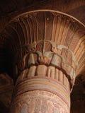 Egyptian pillars. Temple details shot in egypt Esna stock photo