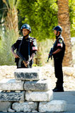 Egyptian Police Officers stand on post Royalty Free Stock Photo