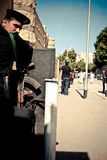 Egyptian policeman. In guard of coptic cairo Royalty Free Stock Photos