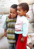 Poor children in egypt Royalty Free Stock Photo