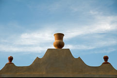 Egyptian pot on rooftop Stock Photos