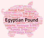 Egyptian Pound Represents Worldwide Trading And Banknotes Royalty Free Stock Photo