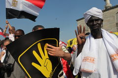 Egyptian Protest Stock Photography