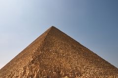 Egyptian pyramid. One of great egyptian pyramids Stock Photos