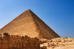 Egyptian pyramid. Ancient egyptian pyramid in Giza Stock Photography