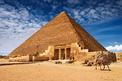 Egyptian pyramid. Ancient egyptian pyramids in Giza