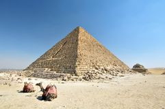 Egyptian pyramid royalty free stock photo