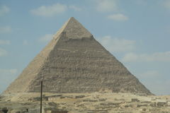 Egyptian pyramid big huge summer. Mystery of the Egyptian Pyramids Stock Images