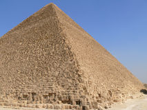 Egyptian pyramid closeup. Royalty Free Stock Images