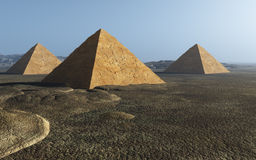 Egyptian Pyramid Group Royalty Free Stock Image