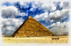 Egyptian pyramid Stock Photo