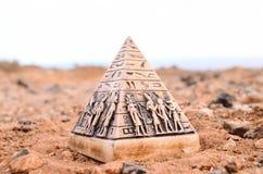 Egyptian Pyramid Model Miniature royalty free stock photo