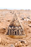 Egyptian Pyramid Model Miniature Stock Photos