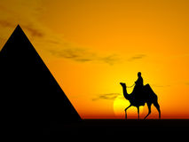 Egyptian pyramid scene Royalty Free Stock Photography