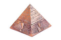 Egyptian pyramid. On a white background Royalty Free Stock Photography