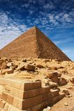 Egyptian pyramids. Ancient egyptian pyramids in Giza Stock Photography